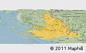 Savanna Style Panoramic Map of Zadar-Knin
