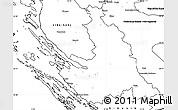 Blank Simple Map of Zadar-Knin