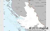 Gray Simple Map of Zadar-Knin