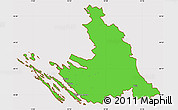 Political Simple Map of Zadar-Knin, cropped outside