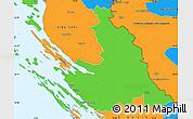 Political Simple Map of Zadar-Knin