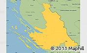 Savanna Style Simple Map of Zadar-Knin