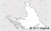 Silver Style Simple Map of Zadar-Knin, cropped outside