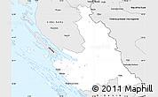 Silver Style Simple Map of Zadar-Knin