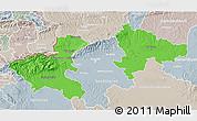 Political 3D Map of Zagreb, lighten, semi-desaturated
