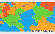 Political Simple Map of Zagreb