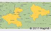 Savanna Style Simple Map of Zagreb