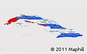 Flag 3D Map of Cuba