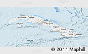 Gray 3D Map of Cuba