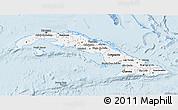 Gray 3D Map of Cuba