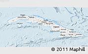 Gray 3D Map of Cuba, single color outside