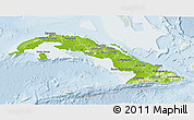 Physical 3D Map of Cuba, lighten