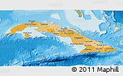 Political Shades 3D Map of Cuba