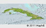 Satellite 3D Map of Cuba, lighten