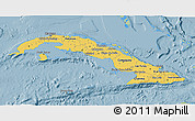 Savanna Style 3D Map of Cuba