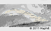 Shaded Relief 3D Map of Cuba, desaturated