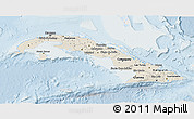 Shaded Relief 3D Map of Cuba, lighten