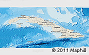 Shaded Relief 3D Map of Cuba