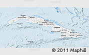 Silver Style 3D Map of Cuba