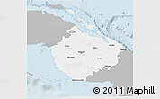 Gray 3D Map of Camaguey, single color outside
