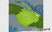 Physical 3D Map of Camaguey, darken