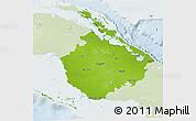 Physical 3D Map of Camaguey, lighten
