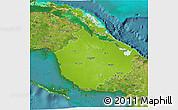 Physical 3D Map of Camaguey, satellite outside