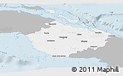 Gray Panoramic Map of Camaguey, single color outside