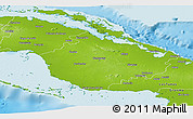 Physical Panoramic Map of Camaguey