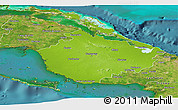 Physical Panoramic Map of Camaguey, satellite outside