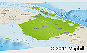 Physical Panoramic Map of Camaguey, shaded relief outside
