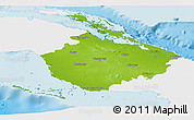 Physical Panoramic Map of Camaguey, single color outside