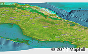 Satellite Panoramic Map of Camaguey