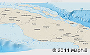 Shaded Relief Panoramic Map of Camaguey