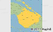 Savanna Style Simple Map of Camaguey