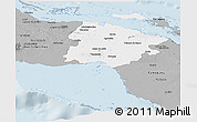 Gray Panoramic Map of Ciego de Avila