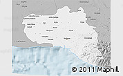 Gray 3D Map of Cienfuegos