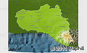 Physical 3D Map of Cienfuegos, darken