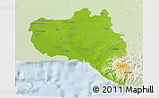 Physical 3D Map of Cienfuegos, lighten