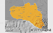 Political 3D Map of Cienfuegos, desaturated