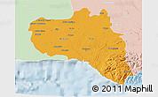 Political 3D Map of Cienfuegos, lighten