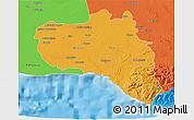 Political 3D Map of Cienfuegos
