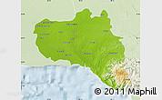 Physical Map of Cienfuegos, lighten