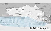 Gray Panoramic Map of Cienfuegos