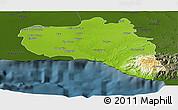Physical Panoramic Map of Cienfuegos, darken