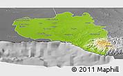 Physical Panoramic Map of Cienfuegos, desaturated