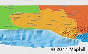 Political Panoramic Map of Cienfuegos