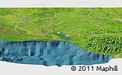 Satellite Panoramic Map of Cienfuegos