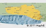 Savanna Style Panoramic Map of Cienfuegos