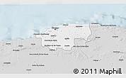 Silver Style 3D Map of Ciudad de la Habana
